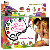 EDIBLE BODY PLAY PAINTS - 4 FLAVORS
