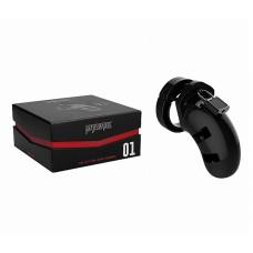 MODEL01 - CHASTITY - 3.5'' - COCK CAGE - BLACK