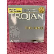 CONDOM-TROJAN-MINCE BOITE DE 30